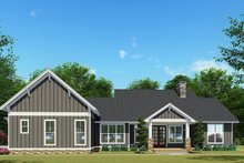 Dream House Plan - Craftsman Exterior - Rear Elevation Plan #923-133