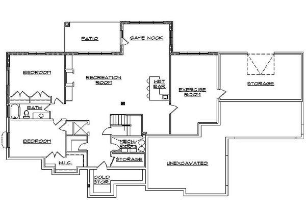 House Plan Design - Traditional Floor Plan - Lower Floor Plan #5-292