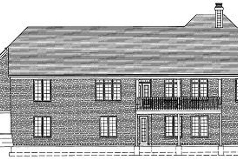 Traditional Exterior - Rear Elevation Plan #46-397 - Houseplans.com