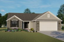 Dream House Plan - Craftsman Exterior - Front Elevation Plan #1064-61