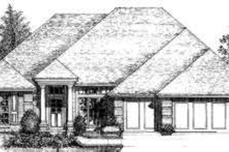 House Plan - 4 Beds 3 Baths 2132 Sq/Ft Plan #310-132 Exterior - Front Elevation