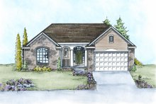 Traditional Exterior - Front Elevation Plan #20-2107