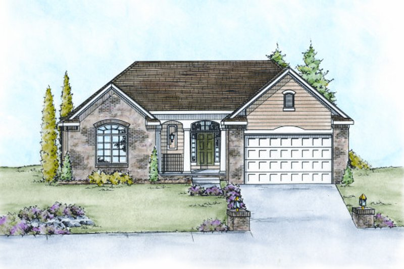 Traditional Exterior - Front Elevation Plan #20-2107 - Houseplans.com