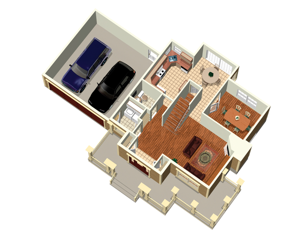 Country Floor Plan - Main Floor Plan Plan #25-4318