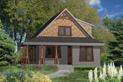Country Style House Plan - 2 Beds 1 Baths 1288 Sq/Ft Plan #25-4437 Exterior - Front Elevation
