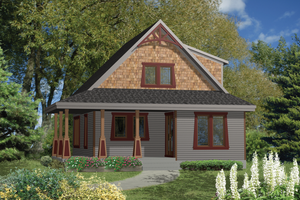 Country Exterior - Front Elevation Plan #25-4437