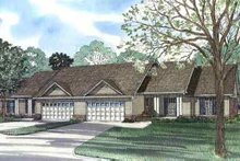 House Plan Design - Traditional Exterior - Front Elevation Plan #17-562