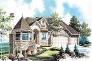 European Style House Plan - 5 Beds 5 Baths 3052 Sq/Ft Plan #5-333 Exterior - Front Elevation