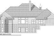 European Style House Plan - 3 Beds 2 Baths 2239 Sq/Ft Plan #70-657 Exterior - Rear Elevation
