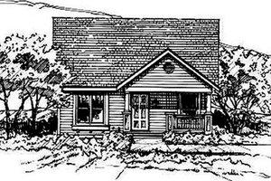 Bungalow Exterior - Front Elevation Plan #50-231