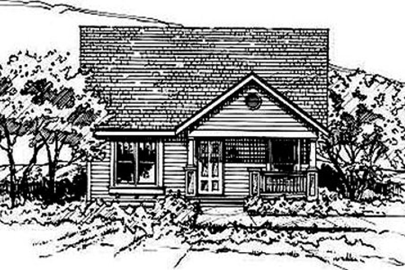 Bungalow Style House Plan - 3 Beds 2 Baths 1291 Sq/Ft Plan #50-231 Exterior - Front Elevation