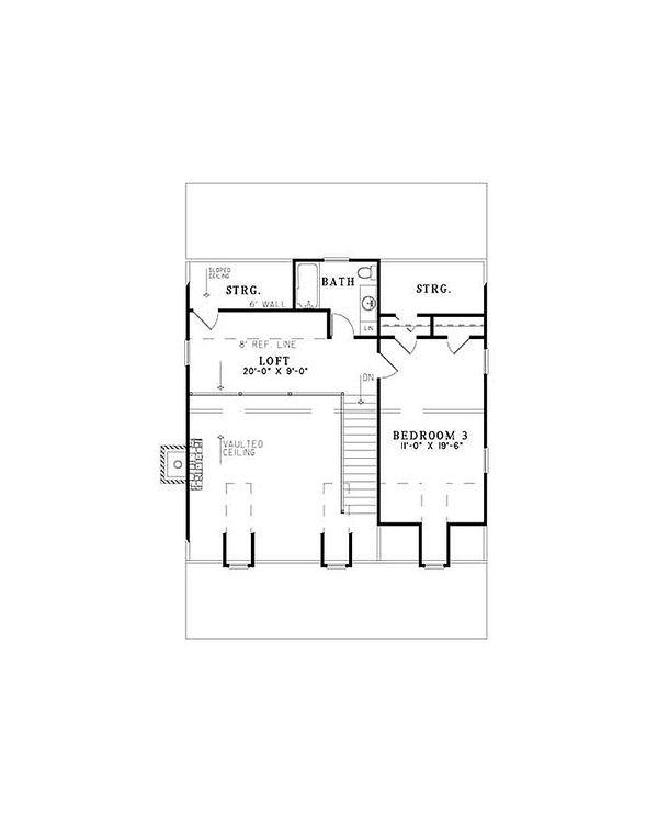 Cottage Floor Plan - Upper Floor Plan Plan #17-2354