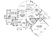 Craftsman Style House Plan - 3 Beds 3 Baths 3642 Sq/Ft Plan #54-391 Floor Plan - Main Floor