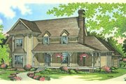Country Style House Plan - 4 Beds 3.5 Baths 3162 Sq/Ft Plan #45-162 Exterior - Front Elevation