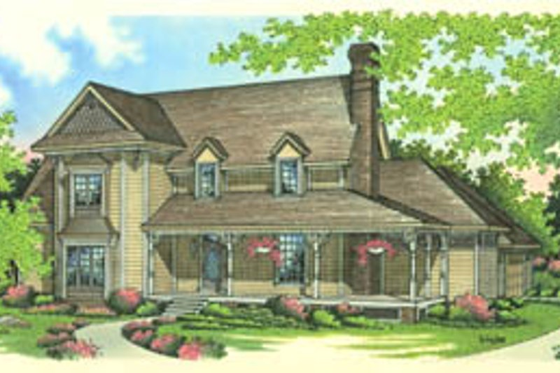 Home Plan - Country Exterior - Front Elevation Plan #45-162