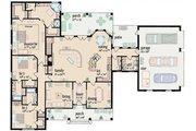Ranch Style House Plan - 3 Beds 3.5 Baths 2862 Sq/Ft Plan #36-477 Floor Plan - Main Floor Plan