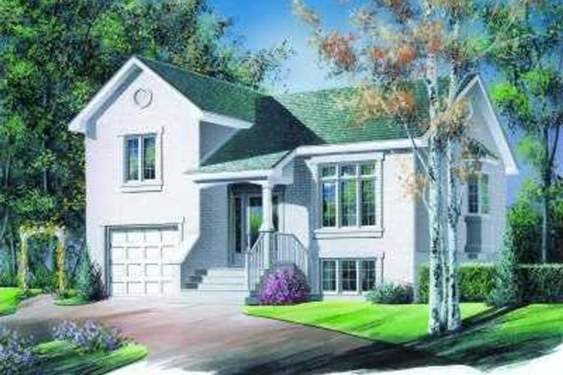 European Exterior - Front Elevation Plan #23-328