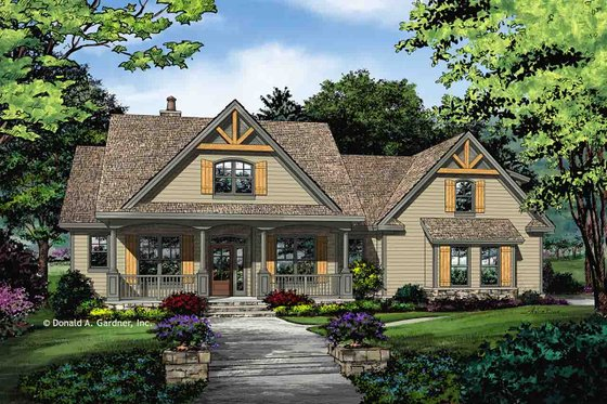 Farmhouse Exterior - Front Elevation Plan #929-1044