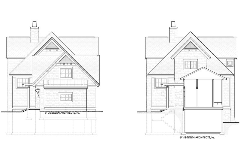 Front Elevation Of Bathroom : Traditional style house plan beds baths sq ft