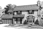 Traditional Style House Plan - 4 Beds 2.5 Baths 1616 Sq/Ft Plan #50-197 Exterior - Front Elevation
