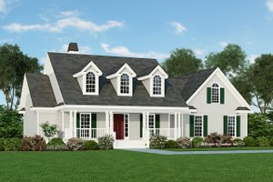 Country Exterior - Front Elevation Plan #929-344
