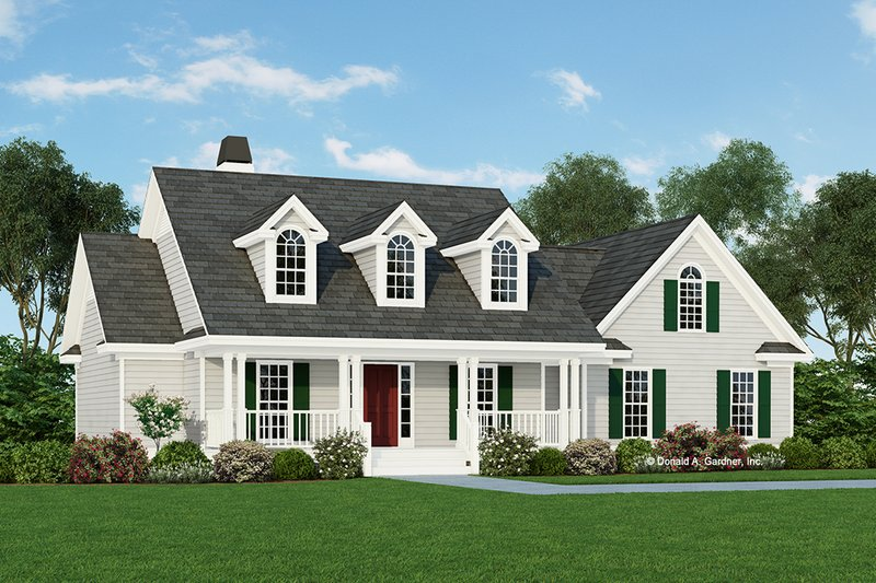 Country Style House Plan - 3 Beds 2 Baths 1685 Sq/Ft Plan #929-344 Exterior - Front Elevation