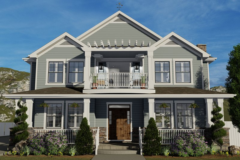 Home Plan - Farmhouse Exterior - Front Elevation Plan #1060-44