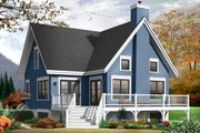 Country Style House Plan - 3 Beds 2 Baths 1579 Sq/Ft Plan #23-2264 Exterior - Rear Elevation
