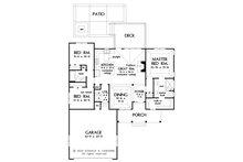 Farmhouse Floor Plan - Main Floor Plan Plan #929-1107
