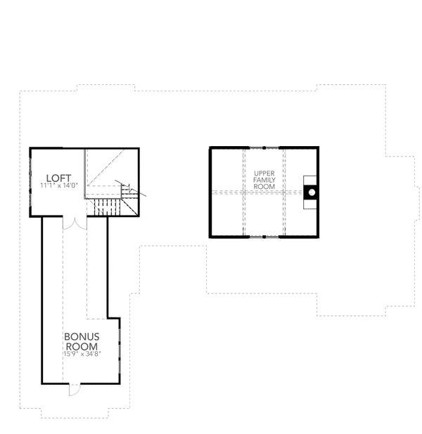 Farmhouse Floor Plan - Upper Floor Plan Plan #80-219