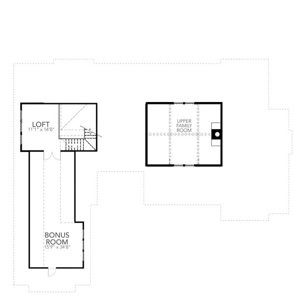 Farmhouse Floor Plan - Upper Floor Plan #80-219