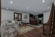 Cabin Style House Plan - 3 Beds 2.5 Baths 2418 Sq/Ft Plan #1060-24 Interior - Dining Room