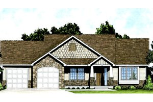 Craftsman Exterior - Front Elevation Plan #58-205