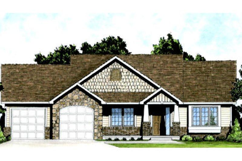 Craftsman Style House Plan - 2 Beds 2 Baths 1150 Sq/Ft Plan #58-205