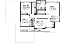 Floor Plan - Upper Floor Plan Plan #70-1102