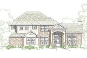 European Style House Plan - 4 Beds 2.5 Baths 2008 Sq/Ft Plan #80-129 Exterior - Front Elevation