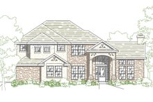 European Exterior - Front Elevation Plan #80-129