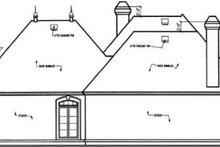 European Exterior - Rear Elevation Plan #45-240