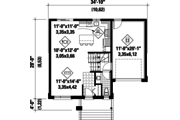Contemporary Style House Plan - 3 Beds 1 Baths 1501 Sq/Ft Plan #25-4351 Floor Plan - Main Floor