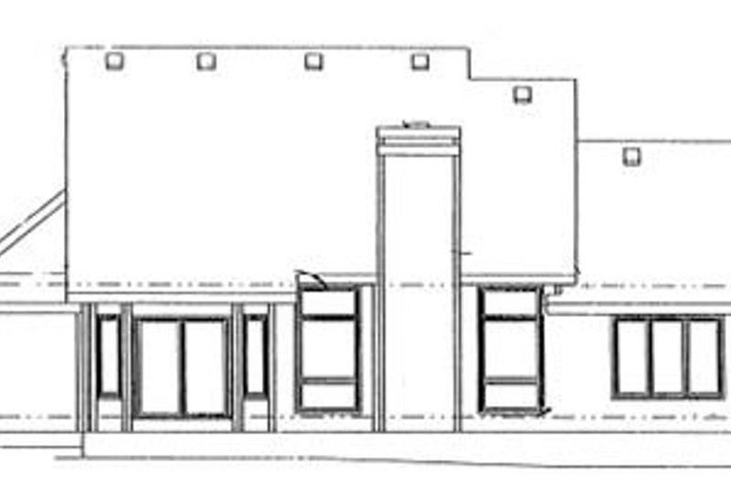 Traditional Exterior - Rear Elevation Plan #20-574 - Houseplans.com