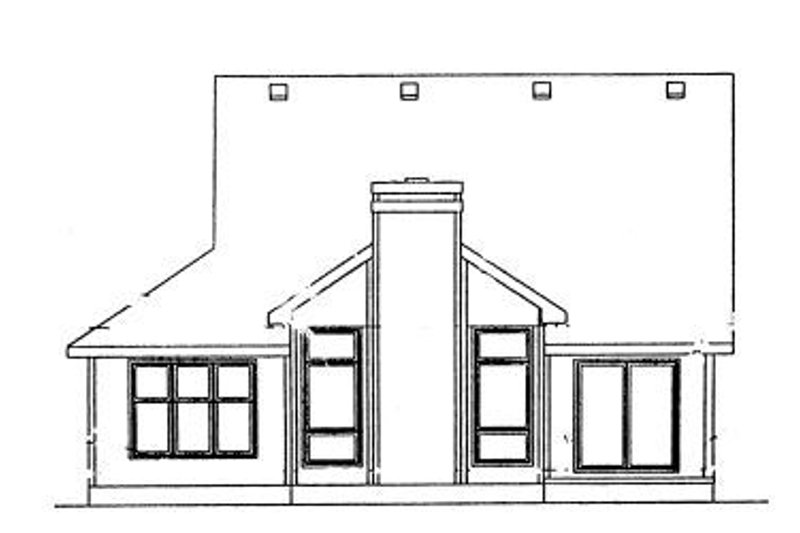 Traditional Exterior - Rear Elevation Plan #20-581 - Houseplans.com