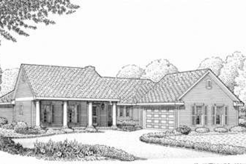 Southern Exterior - Front Elevation Plan #410-333 - Houseplans.com