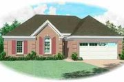 European Style House Plan - 3 Beds 2 Baths 1362 Sq/Ft Plan #81-182 Exterior - Front Elevation