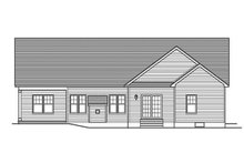 Ranch Exterior - Rear Elevation Plan #1010-101