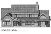 Modern Style House Plan - 4 Beds 2.5 Baths 2994 Sq/Ft Plan #70-471 Exterior - Rear Elevation