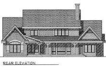 Dream House Plan - Modern Exterior - Rear Elevation Plan #70-471