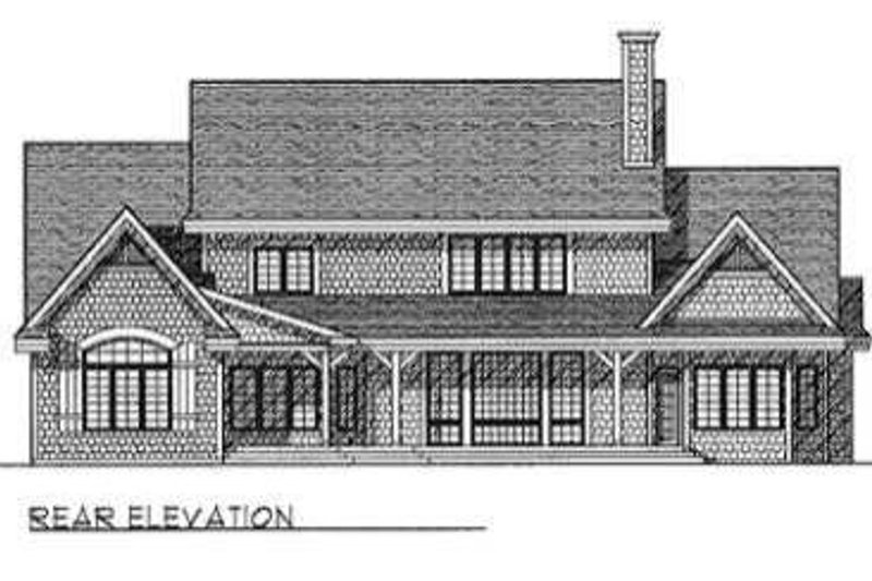 Modern Exterior - Rear Elevation Plan #70-471 - Houseplans.com