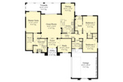 Contemporary Style House Plan - 3 Beds 2 Baths 1808 Sq/Ft Plan #930-451 Floor Plan - Main Floor Plan
