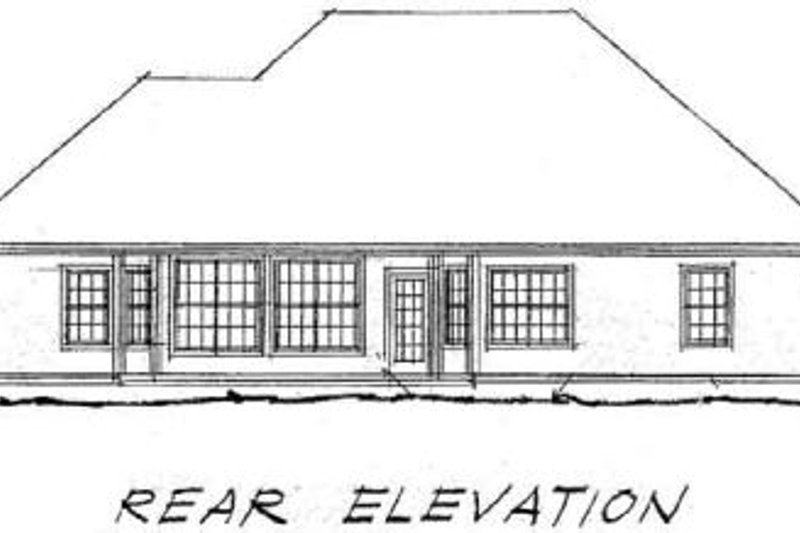 Traditional Exterior - Rear Elevation Plan #20-343 - Houseplans.com