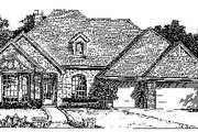 European Style House Plan - 4 Beds 3 Baths 2425 Sq/Ft Plan #310-741 Exterior - Front Elevation